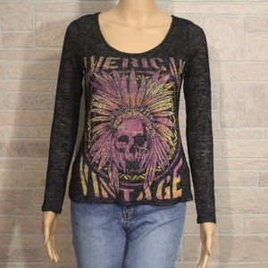 The Clas-Sic American Vintage Indian Skull T-shirt